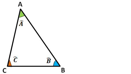 somme des angles d'un triangle 180° triangle quelconque